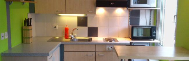 Vollwertige Küche im Studio in Saas Fee